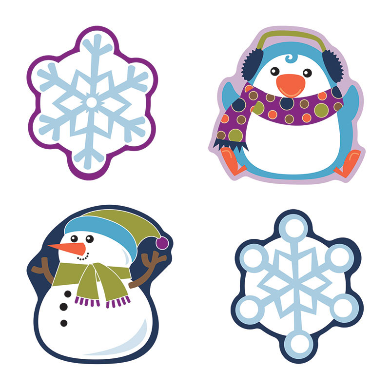 (6 Pk) Winter Mix Cut Outs - image 1 of 1