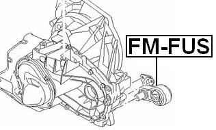 Febest Fm Fus Transmission Mount Mt Ford B Max Cb2 2012 Oem