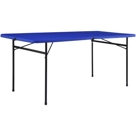 Mainstays 6 Foot Bi Fold Plastic Folding Table Royal