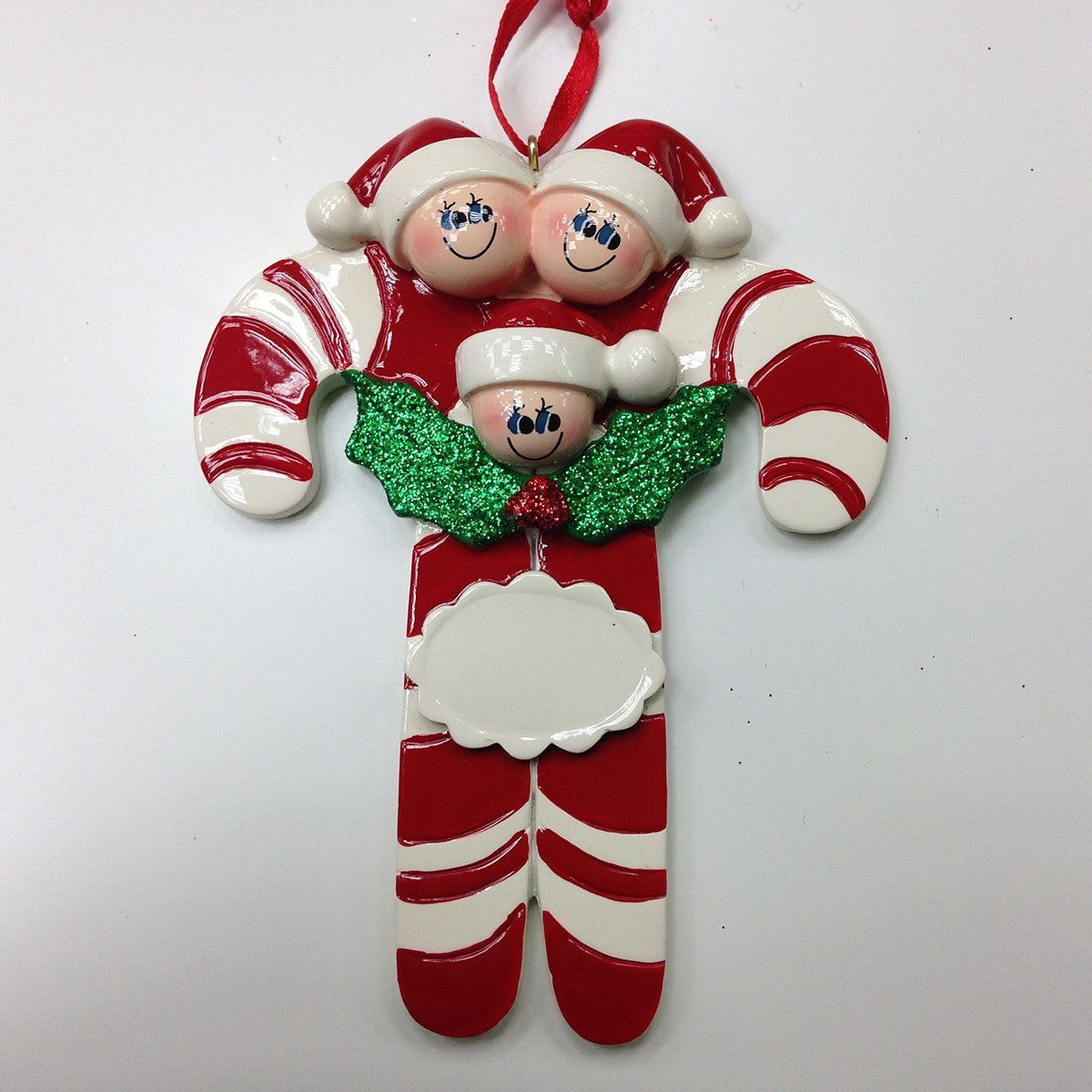 Candy Canes 3 Personalized Christmas Ornament DO-IT-YOURSELF