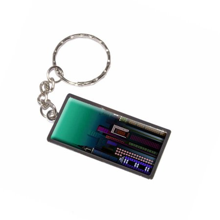 New York Skyline Night Turquoise City Empire State Building Nyc Manhattan Keychain Key Chain Ring](Empire State Building Halloween Night)