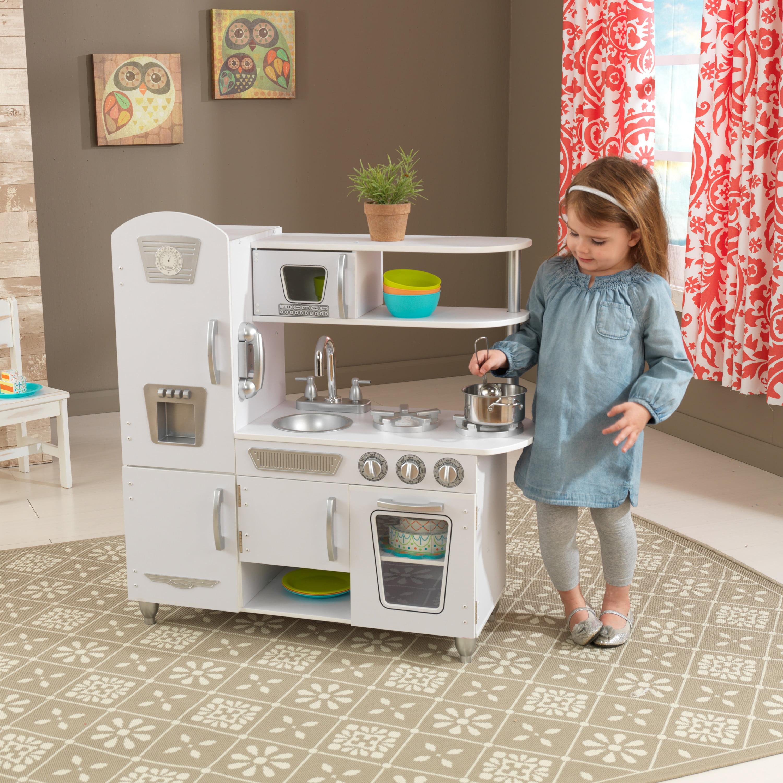 Kidkraft Vintage Play Kitchen White Walmart Com Walmart Com