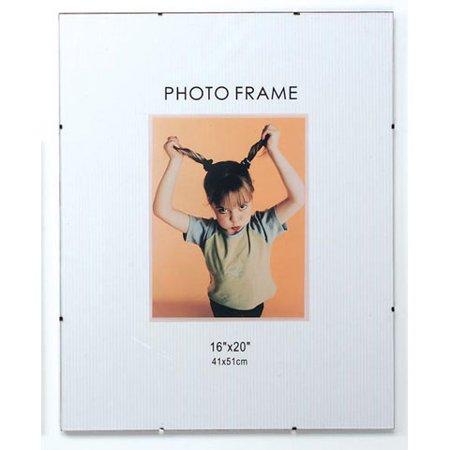 Glass Clip Photo Frame - 16 x 20 (Clip Glass Frames)