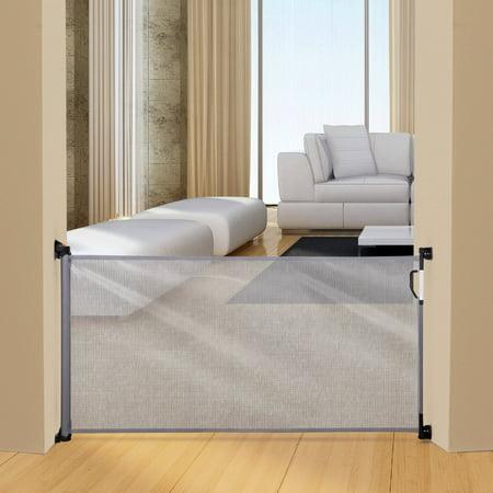 dreambaby indoor outdoor retractable gate grey. Black Bedroom Furniture Sets. Home Design Ideas