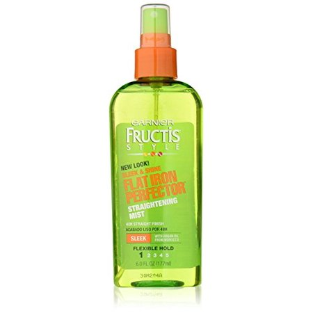 Garnier Fructis Flat Iron Perfector Straightening Mist, 6 Fl (Best Hair Straightening Products Drugstore)