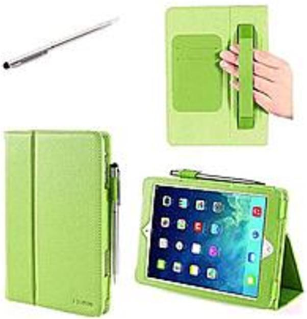 i-Blason IPAD5-606-GREEN Slim Book Cover with Bonus Stylus for iPad Air - Green