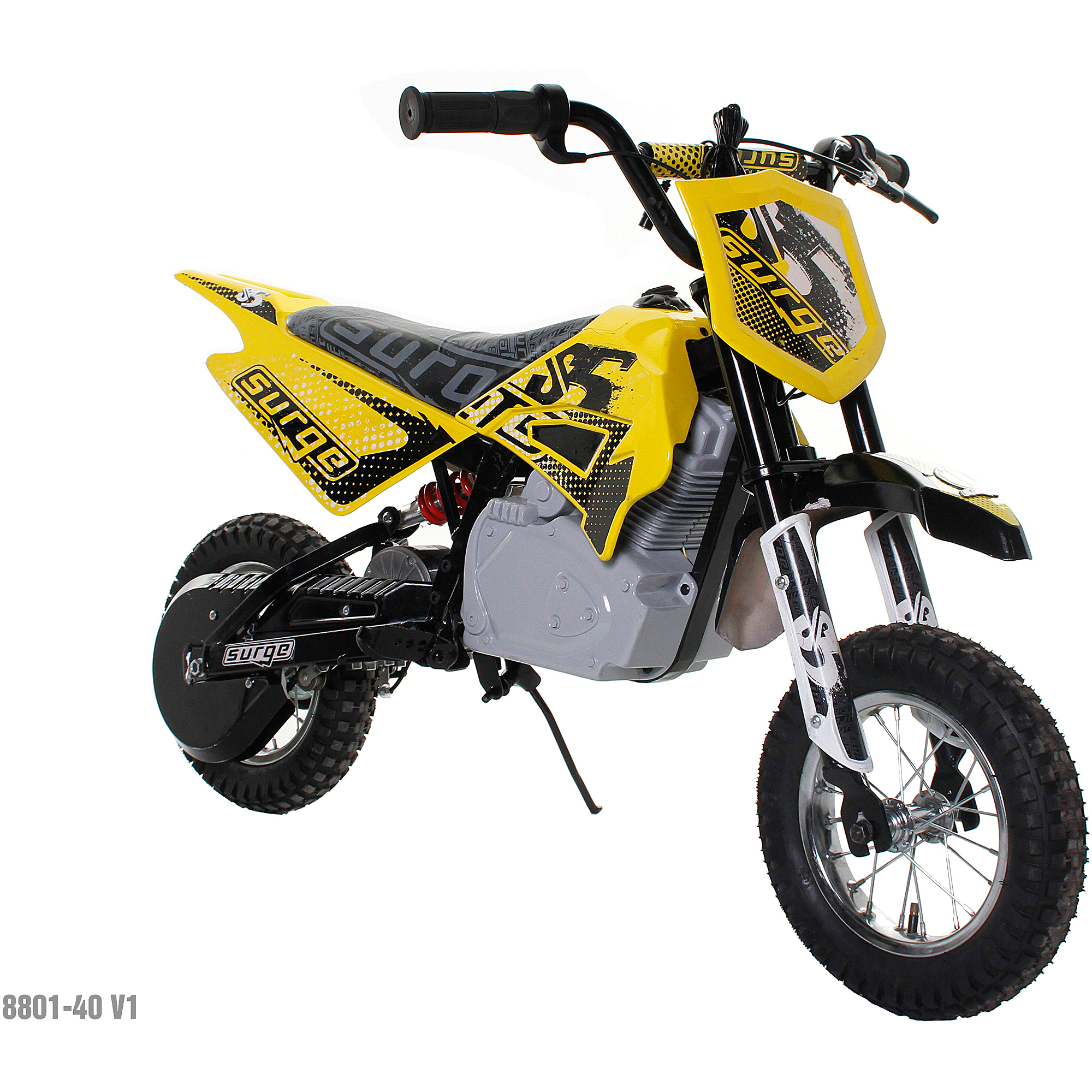 Surge Boys' 24V Electric Dirt Bike, Yellow