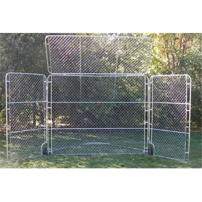 Olympia Sports BS025M Portable Backstop with Top & Side Panels