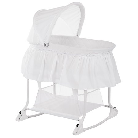 Dream On Me Willow Bassinet in White