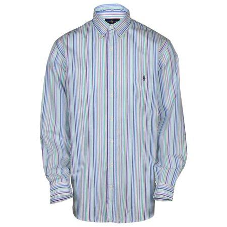 Classic Tall Wool Stripe - Polo RL Men's Big and Tall Classic Woven Striped Shirt