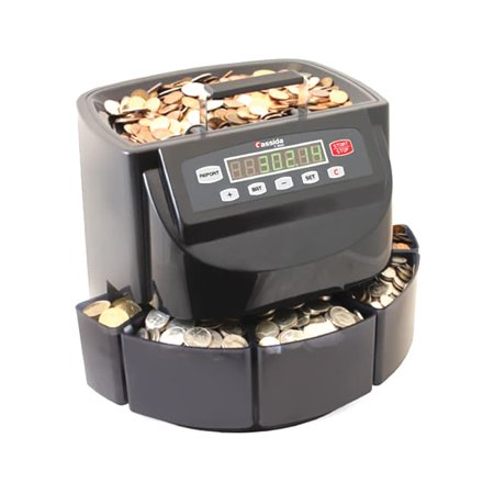 - Cassida  C200 CAD Coin Sorter, Wrapper, and Counter