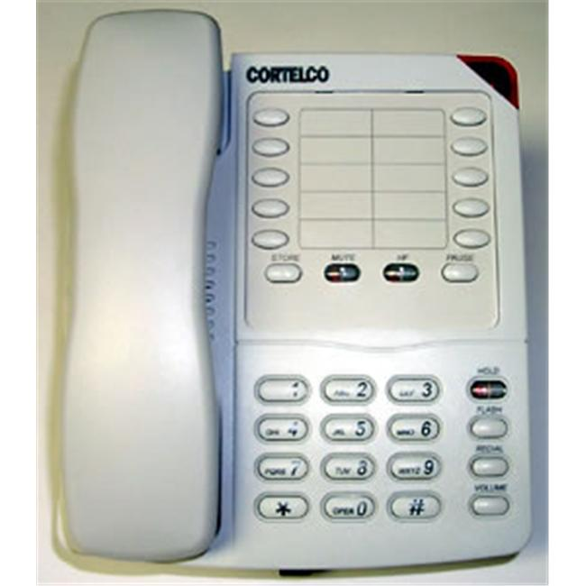 Cortelco Colleague 220321VBA27S Standard Phone - Frost - Corded - 1 x Phone Line - Speakerphone