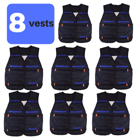 Nerf Gun Birthday Party Supplies (Wishery Party Supplies Compatible with Nerf Guns. Nerf vest Birthday Party Favors 8 Kids - 2)