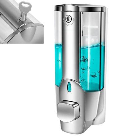 Kitchen Bathroom Wall Mounted Liquid Soap 350ml Dispenser Bathroom Hand Sanitizer Dispenser Shower Gel Shampoo