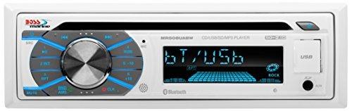 Click here to buy Boss Audio Mr508uabw Marine Cd mp3 Player Ipod iphone Compatible Single Din White Detachable Faceplate Cd-rw Cd-da, Wma... by Boss Audio.