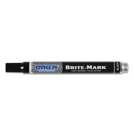 DYKEM BRITE-MARK Paint Marker, Bullet Medium Tip, Black