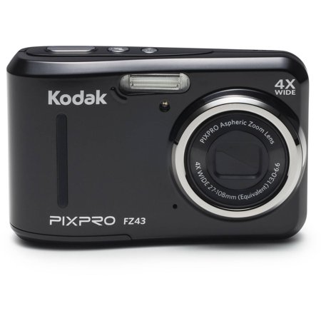 Kodak Pixpro Fz43 Digital Camera Black With 16 15 Megapixels And 4X Optical Zoom