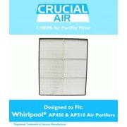 1 Pack of Think Crucial Replacement Air Filters Compatible With Whirlpool Air Purifier Parts 8171434K, 1183054, 1183054K, 1183054K Large, and 1183054K - Whispure - HEPA Style Filter Parts, Bulk Pack