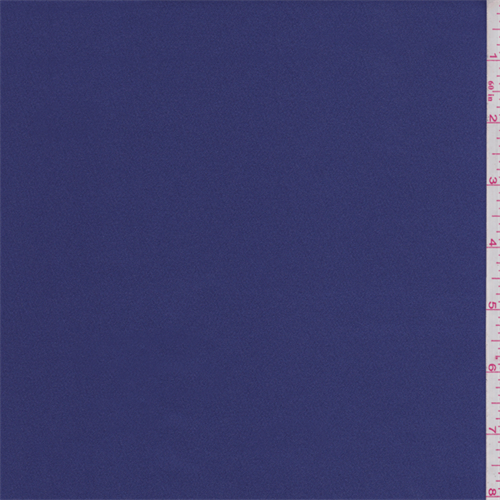 Violet Blue Stretch Satin, Fabric By the Yard