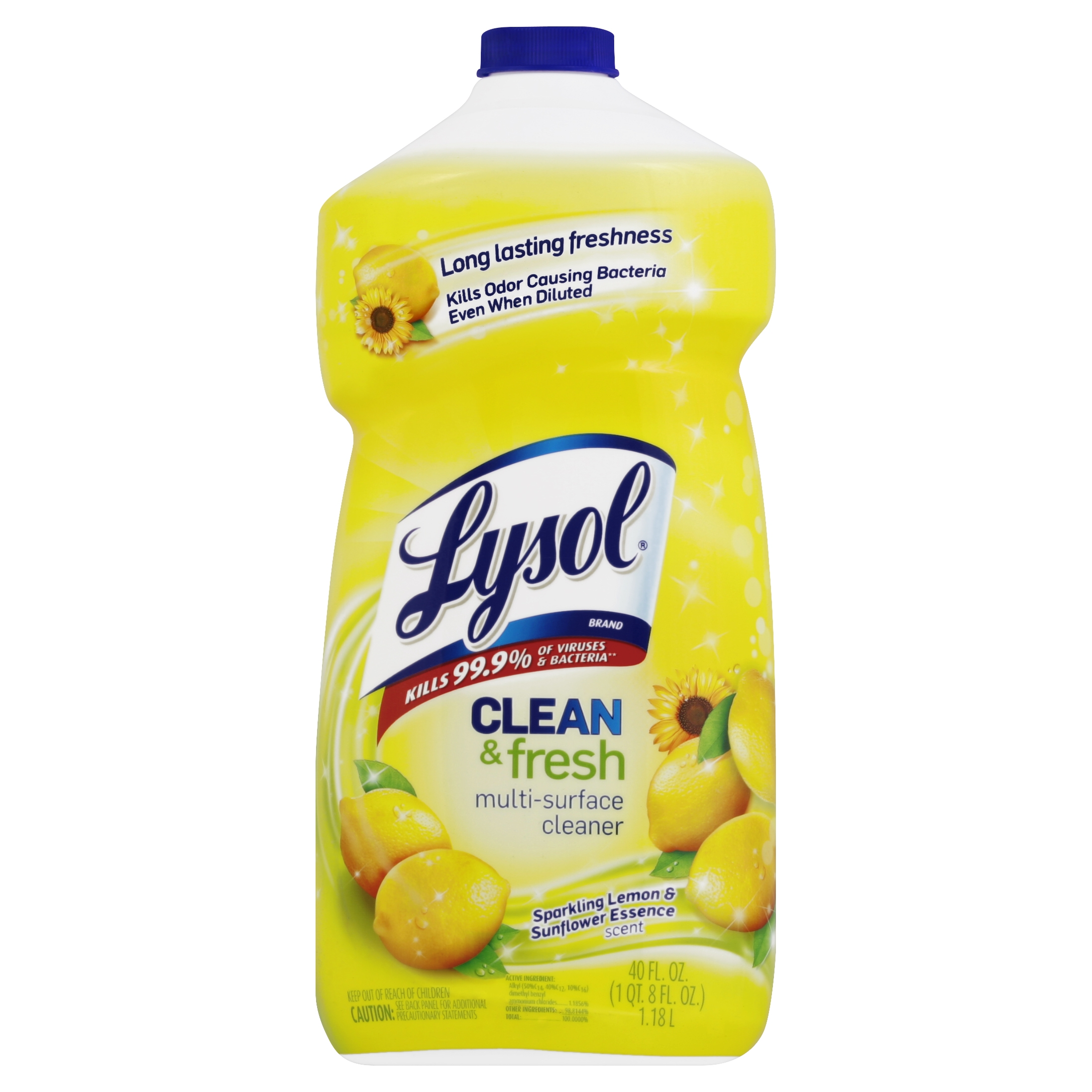 Lysol Power and Fresh All Purpose Cleaner, Lemon Sunflower, 40 Ounce