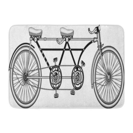 GODPOK Dual Bicycle Retro Tandem Bike Double Wheel Rug Doormat Bath Mat 23.6x15.7 (Best Tandem Bikes)