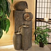 Alpine Four-Pitcher Pouring Indoor/Outdoor Water Fountain