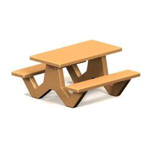 Petersen Commercial Lathrop 5 ft. Rectangle Concrete Picnic Table