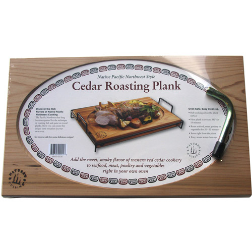 "Natures Cuisine NC001 17"" x 10.5"" Cedar Roasting Plank With Wrench"