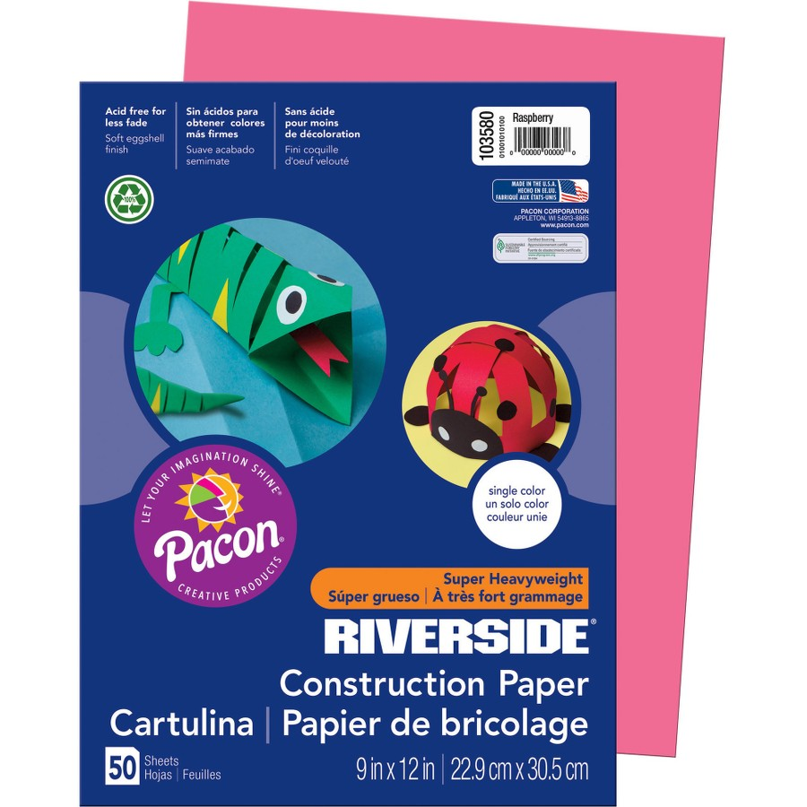 Pacon® Riverside® Construction Paper - Raspberry(pack of 1)