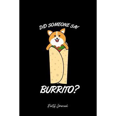 Party Journal: Dot Grid Gift Idea - Party Drinking Journal Cinco De Mayo Drink Burrito Corgi Dog Idea - black Dotted Diary, Planner, (Bulletin Board Ideas For Cinco De Mayo)