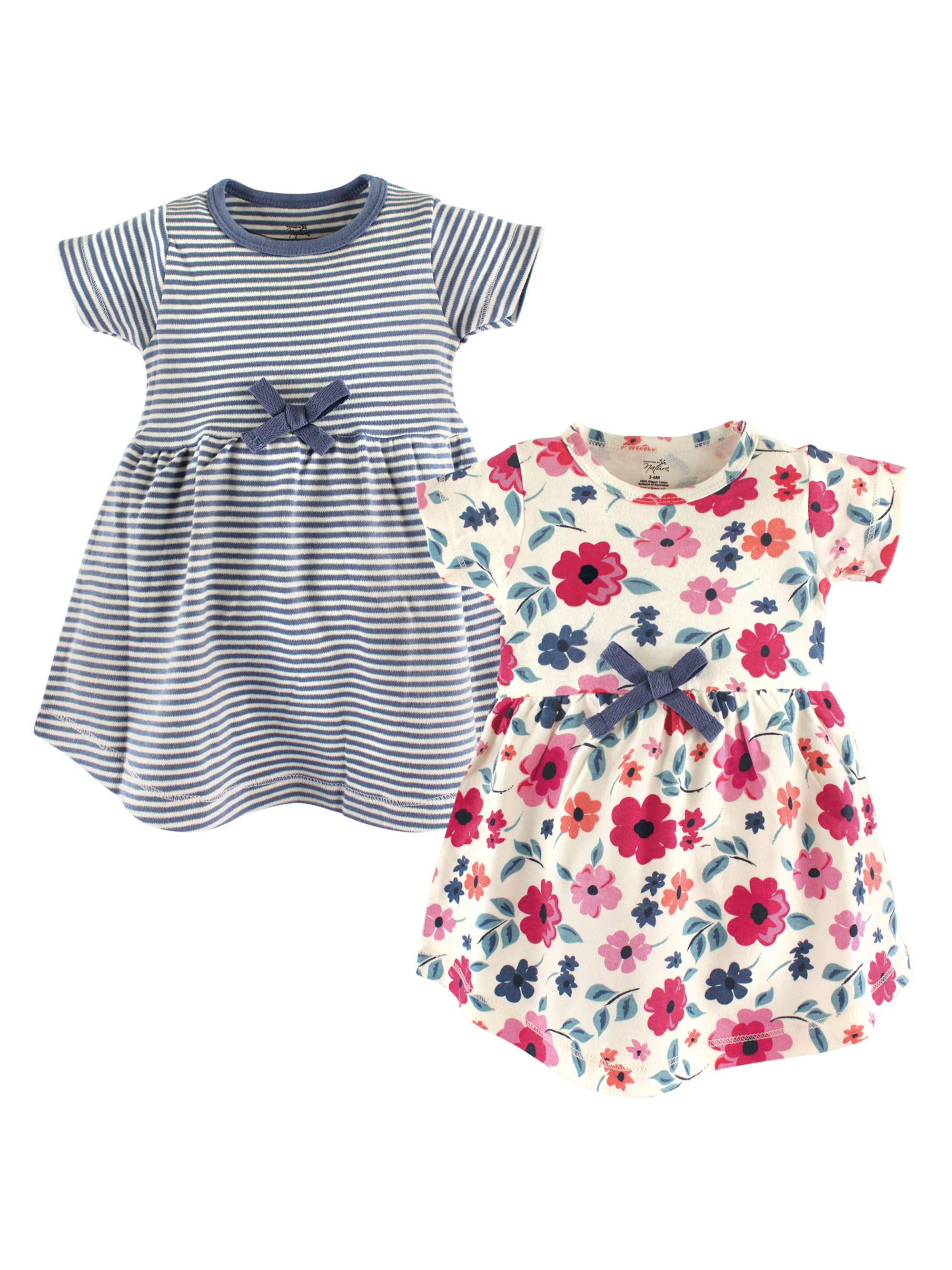 Touched By Nature Girl Toddler Organic Cotton Dresses Pottery Tile Long Sleeve