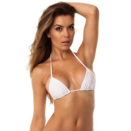 COQUETA Brazilian Bikini Triangle Top Itsy Bitsy Non Padded Swimwear