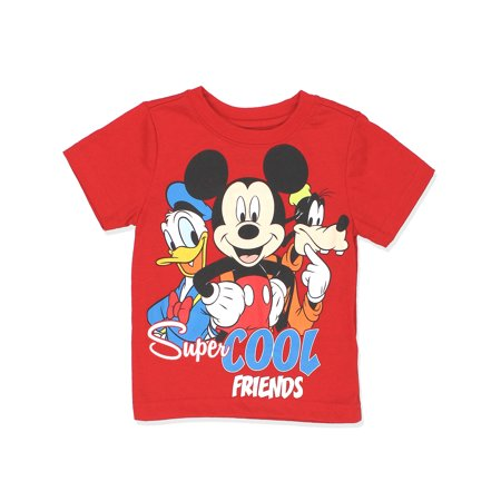 Mickey Mouse Clubhouse Shirt - Mickey Mouse Clubhouse Boys Short Sleeve Tee (Baby/Toddler) 7YG4352