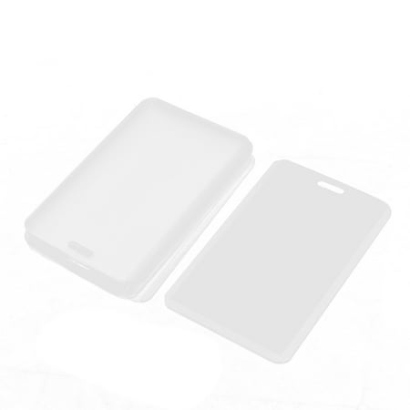Unique Bargains Plastic Vertical Photo Name Tag Company Position ID Work Badge Card Holder 10PCS for $<!---->