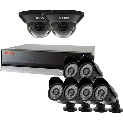 Revo Lite 8-Channel 1TB 960H DVR Surveillance System with Eight 700TVL Cameras