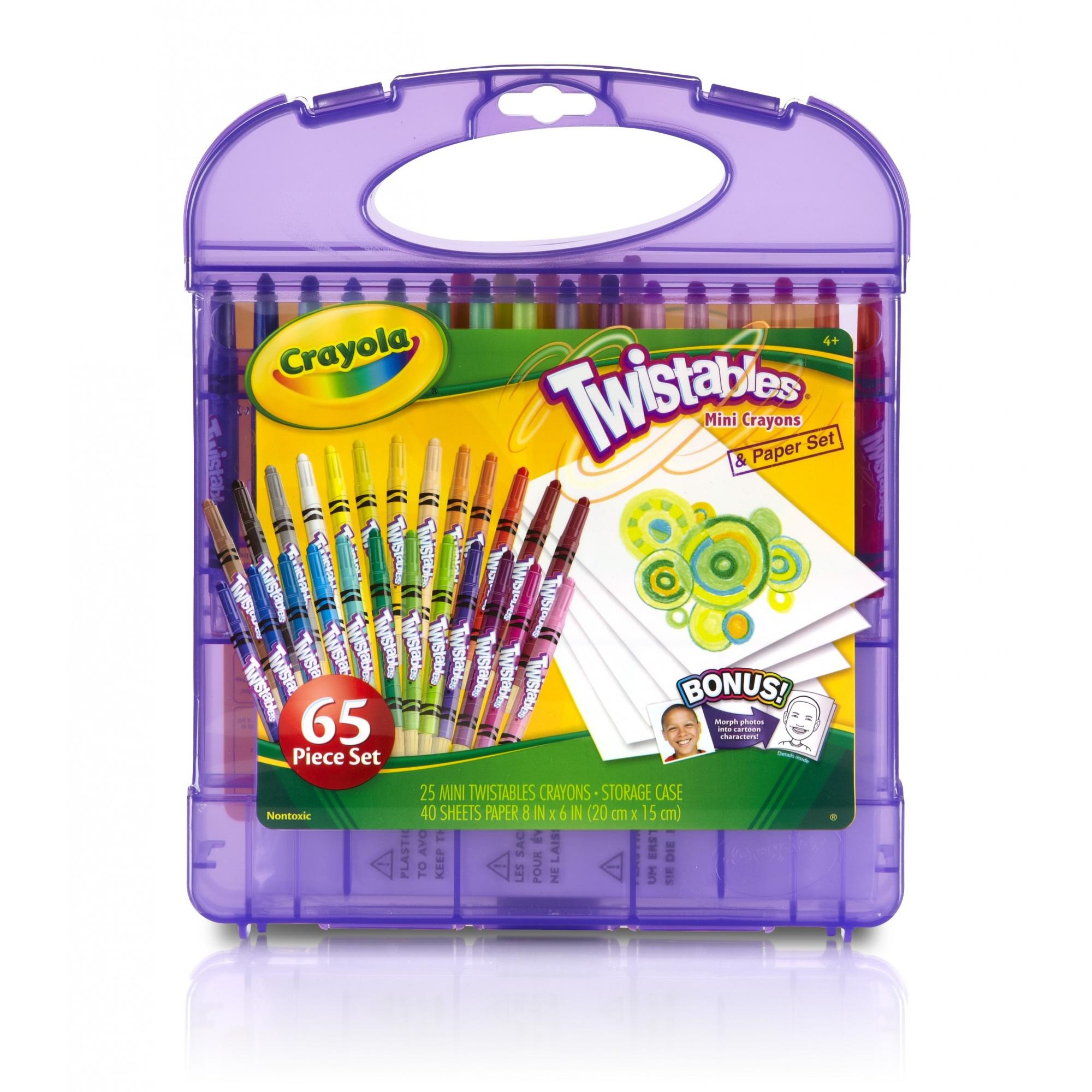 Crayola Twistables Mini Crayons & Paper Set 65 pc Pack by Crayola
