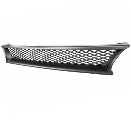 Toyota Corolla 93 94 95 96 97 Front Bumper Mesh Hood Sport Grille Black 1PC
