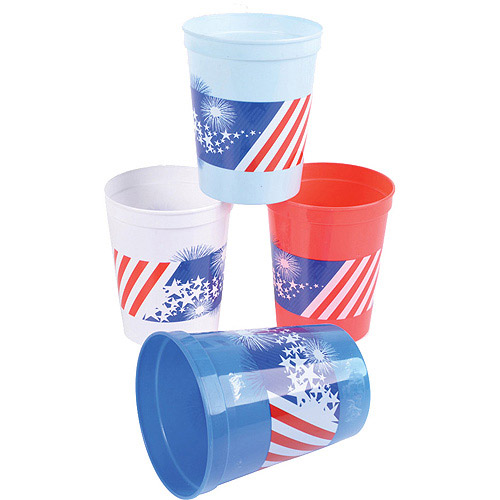 Patriotic 12 Ounce Stadium Cups