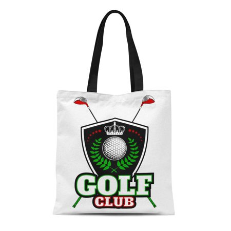 ASHLEIGH Canvas Tote Bag Blue Crest Golf Club on Different Types Use Internet Durable Reusable Shopping Shoulder Grocery Bag