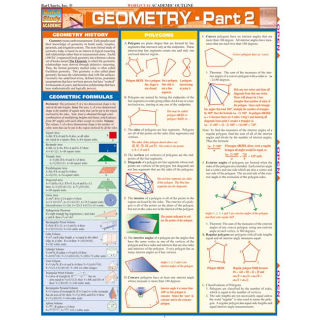 BarCharts- Inc. 9781572225350 Geometry Part 2