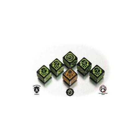 Q-Workshop Warmachine Cryx Faction Dice Set (6 Piece Set)