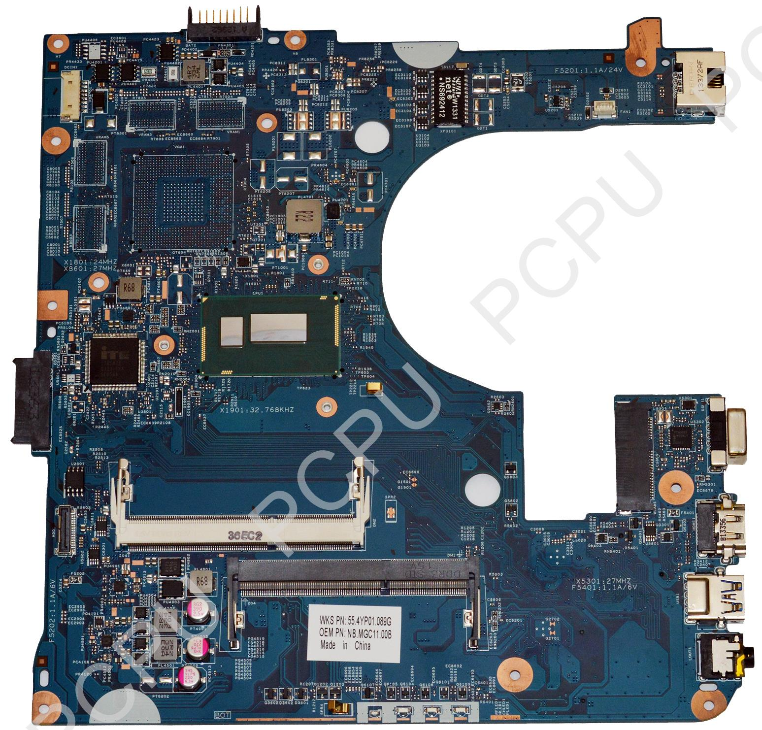 NB.MGC11.00B Acer Aspire E1-432 Laptop Motherboard w/ Intel Pentium DC 3556U 1.7GHz CPU