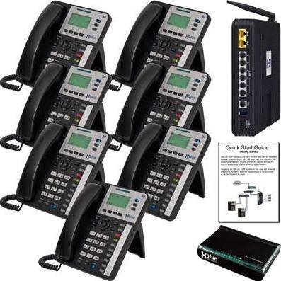 XBlue X50 VoIP Phone System w/ X3030 (7 Pack)