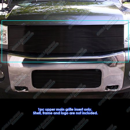 Fits 04-07 Nissan Armada/Titan Black Billet Grille Insert ()