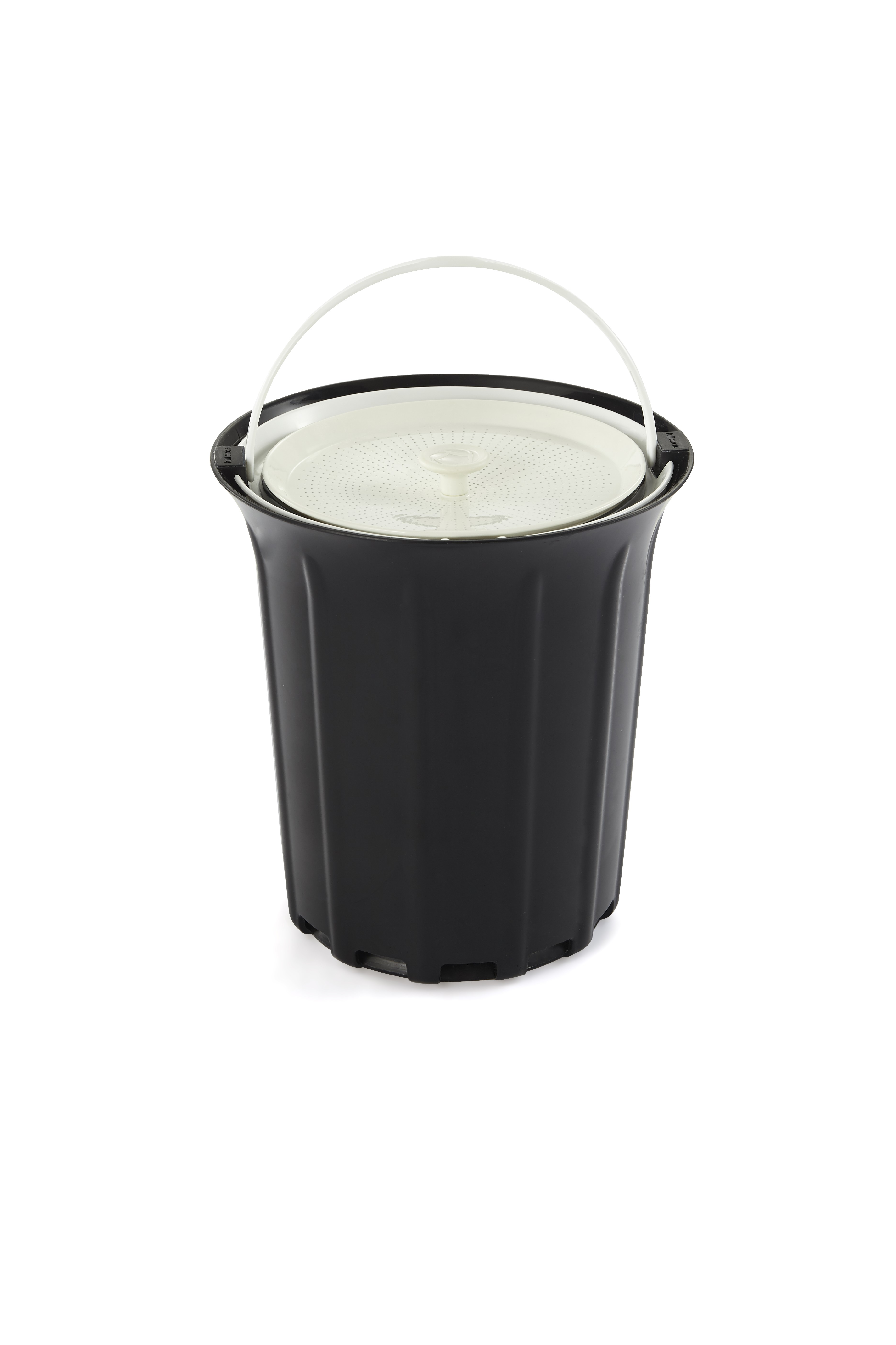 Full Circle Breeze Odor-Free Countertop Compost Collector, Black & White by Full Circle Home, LLC