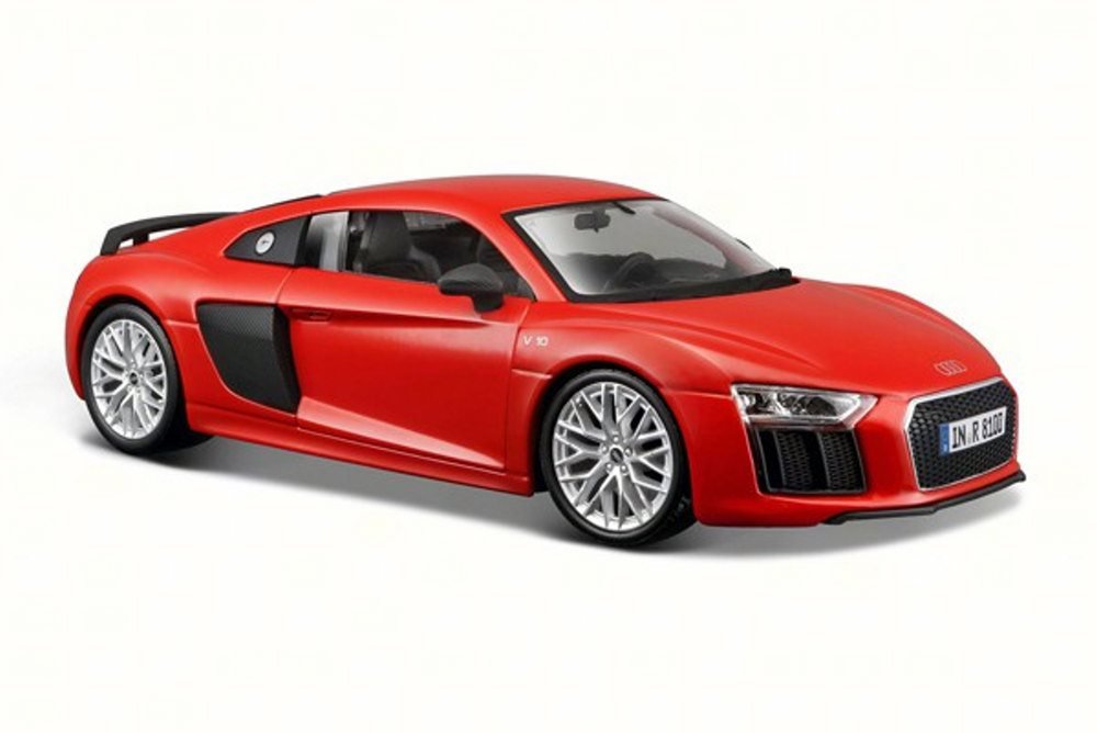 Audi R8 V10 Plus, Red Maisto 31513 1 24 Scale Diecast Model Toy Car by Audi