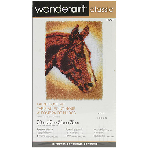 "Wonderart Classic Latch Hook Kit 20"" x 30"", Horse"