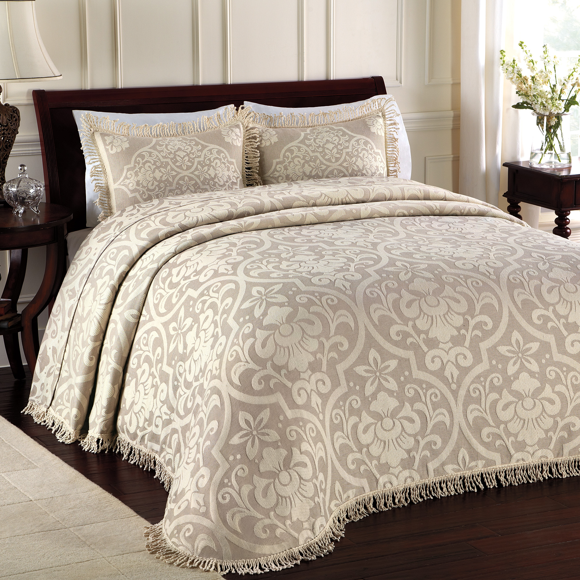 LaMont Home All Over Brocade Collection – 100% Cotton Woven Bedspread
