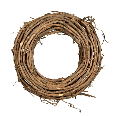 Shine Company 12 inch by 3.5 inch depth Handcrafted Natural Grapevine Wreath, 2 - Large Grapevine Wreath