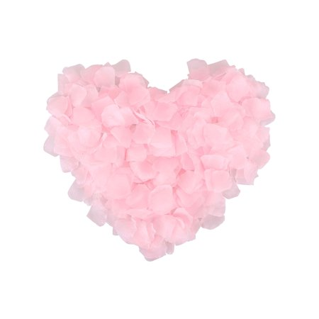 1000 Pcs Wedding Silk Rose Petals for Party Decoration, Light Pink
